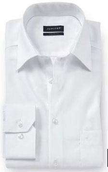 Extrakurz City Hemd, weiß uni