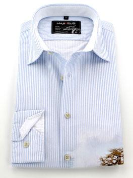 Sporthemd, blau-weiß gestreift