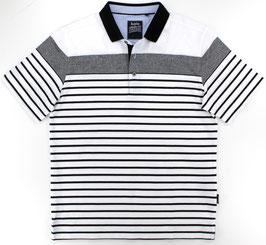 Polo, weiß-schwarz gestreift