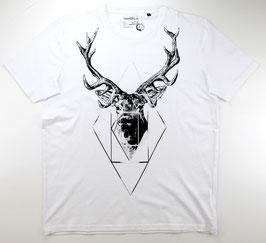 T-Shirt, weiß - Hirsch