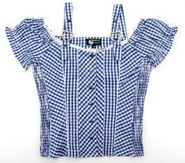 Bluse Polten, kobalt-weiß