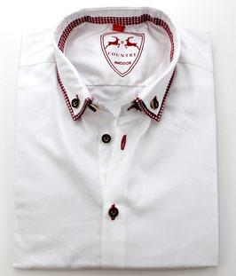 Oktoberfest-Hemd, weiß/rot
