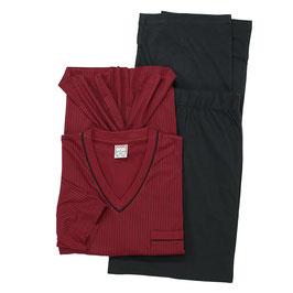 Schlafanzug, bordeauxrot