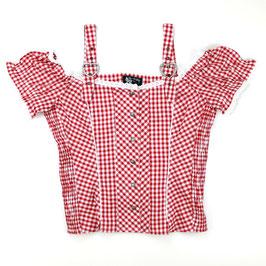 Dirndl-Bluse Polten, rot-weiß