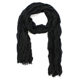 Schal, schwarz uni