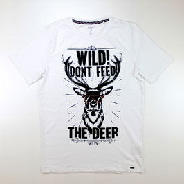 Olymp Level Five T-Shirt, weiß - Hirsch Wild!