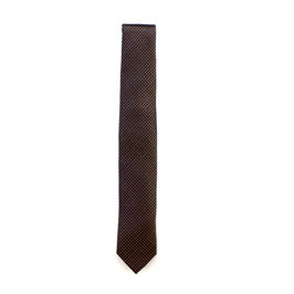 Krawatte, 6.0 cm breit, Kupfer gemustert