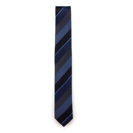 Krawatte, 6.0 cm breit, blau gestreift
