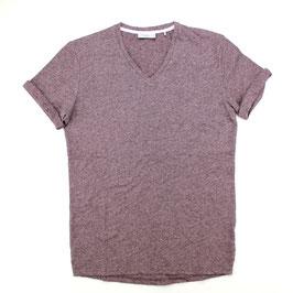 T-Shirt, weinrot meliert