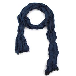 Schal, blau uni