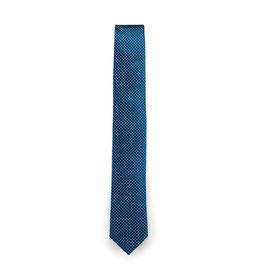 Krawatte, 6.0 cm breit, Türkis gemustert