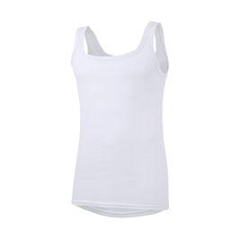 Unterhemd - Feinripp, weiß