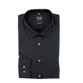 City Hemd, schwarz uni