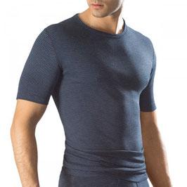 Thermo-Shirt, marine jeans melange