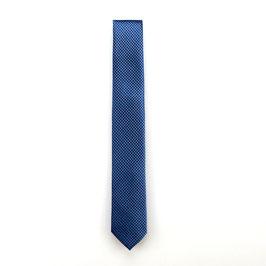 Krawatte, 6.0 cm breit, blau/schwarz gemustert