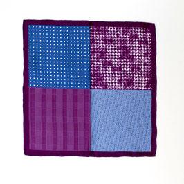 Einstecktuch, pink-blau gemustert