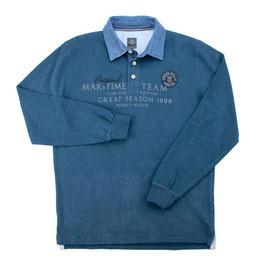 Sweat-Polo, blau
