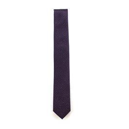 Krawatte, 6.0 cm breit, dunkellila gemustert