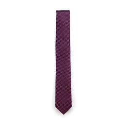 Krawatte, 6.0 cm breit, Bordeaux gemustert