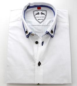 Oktoberfest-Hemd, weiß/blau