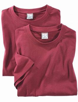 T-Shirt 129420, bordeauxrot
