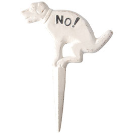 "Steckschild ""NO DOG"""