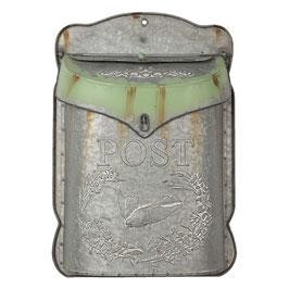 BRIEFKASTEN VINTAGE grau/grün