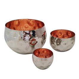 Teelichtschale Alu / Kupfer