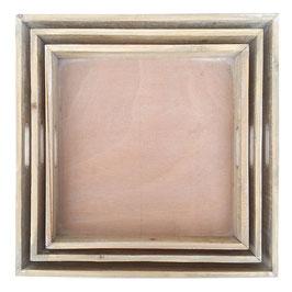 Tablett Holz quadratisch