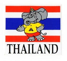 タイ王国 国旗 ステッカー 象タイプ (THAILAND National Flag Sticker  /Elephant typeA ) M サイズ type A 【タイ雑貨 Thailand Sticker】