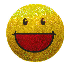 スマイリー ステッカー ラメタイプ(SMILEY sticker) 6cm×6cm type C  【タイ雑貨 Thailand Sticker】
