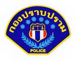タイ王国 警察 ポリス(POLICE) ロゴ / エンブレム アジアンステッカー (THAILAND POLICE Sticker / typeB ) M サイズ  【タイ雑貨 Thailand Sticker】