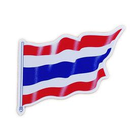 タイ王国 国旗 ステッカー(THAILAND National Flag Sticker ) M サイズ type A1 - タイ雑貨 アジアン 雑貨 スーツケース トランク 旅行 グッズ -