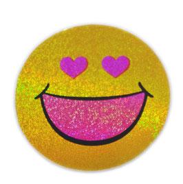 スマイリー ステッカー ラメタイプ(SMILEY sticker) 6cm×6cm type J 【タイ雑貨 Thailand Sticker】
