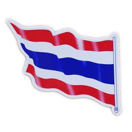 タイ王国 国旗 ステッカー(THAILAND National Flag Sticker ) M サイズ type A2 - タイ雑貨 アジアン 雑貨 スーツケース トランク 旅行 グッズ -