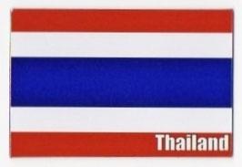タイ王国 国旗 Thailand マグネット type A(横タイプ) 1枚 【タイ雑貨 Thailand Flag Magnet】