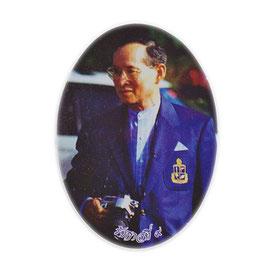 タイ 王室 ステッカー プミポン国王(ラーマ9世)  写真肖像 MSサイズ  typeC - タイ雑貨 アジアン 雑貨 スーツケース トランク 旅行 グッズ -