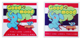 ダブルセット | タイぞう ラブ 2P mix ステッカー [Good mood(ルンルン)] 6×6cm t3&t6 (THAI-ZOU sticker)