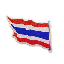 タイ王国 国旗 ステッカー(THAILAND National Flag Sticker ) S サイズ ラメ type A2 - タイ雑貨 アジアン 雑貨 スーツケース トランク 旅行 グッズ -