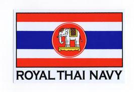 【ミリタリー / 軍隊 グッズ 】 タイ王国 海軍 ステッカー(ROYAL THAI NAVY Sticker ) M サイズ  1枚 【タイ雑貨 Thailand Sticker】