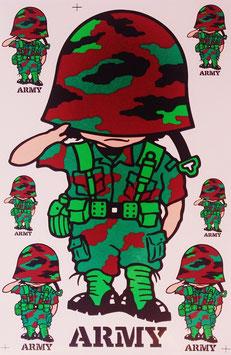 【ミリタリー / 軍隊 グッズ 】タイ王国 陸軍 ステッカー(ROYAL THAI ARMY Sticker 7P mix B) L サイズ【タイ雑貨 Thailand Sticker】