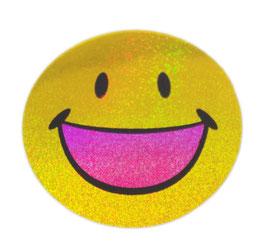 スマイリー ステッカー ラメタイプ(SMILEY sticker) 6cm×6cm type H 【タイ雑貨 Thailand Sticker】