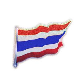 タイ王国 国旗 ステッカー(THAILAND National Flag Sticker ) S サイズ ラメ type A1 - タイ雑貨 アジアン 雑貨 スーツケース トランク 旅行 グッズ -