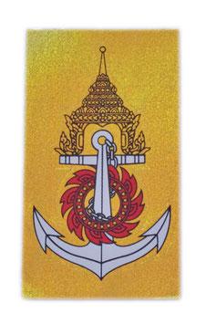 【ミリタリー / 軍隊 グッズ 】 タイ王国 海軍 紋章 エンブレムステッカー ゴールド (ROYAL THAI NAVY Sticker / Gold  ラメタイプ) M サイズ type C 1枚 【タイ雑貨 Thailand Sticker】