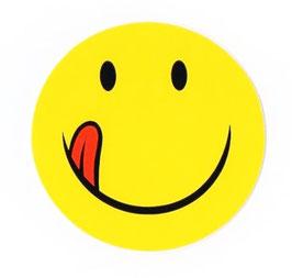 スマイリー ステッカー ジャンボサイズ (JUMBO size  SMILEY sticker) 10cm×10cm  Lサイズ type B  【タイ雑貨 Thailand Sticker】