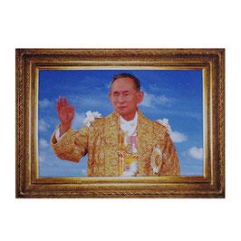 タイ 王室 ステッカー プミポン国王(ラーマ9世)  写真肖像 Mサイズ  typeB - タイ雑貨 アジアン 雑貨 スーツケース トランク 旅行 グッズ -