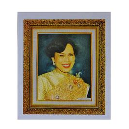 タイ 王室 ステッカー シリキット王妃 肖像 Mサイズ typeA - タイ雑貨 アジアン 雑貨 スーツケース トランク 旅行 グッズ -