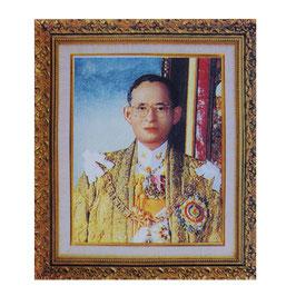タイ 王室 ステッカー プミポン国王(ラーマ9世) 肖像 Mサイズ  typeA - タイ雑貨 アジアン 雑貨 スーツケース トランク 旅行 グッズ -