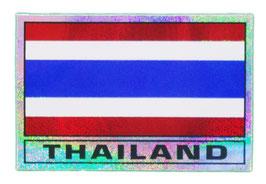 タイ王国 国旗 ステッカー(THAILAND National Flag Sticker ) M サイズ ラメタイプ type H 【タイ雑貨 Thailand Sticker】