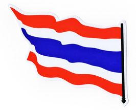 タイ王国 国旗 ステッカー(THAILAND National Flag Sticker ) M サイズ type C 1枚 【タイ雑貨 Thailand Sticker】